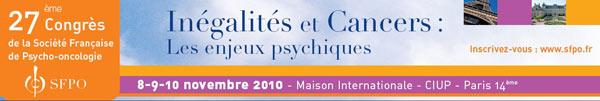 27ème congrès national sur « les inégalités et cancers : les enjeux psychiques»