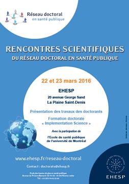 7es rencontres scientifiques du Réseau doctoral