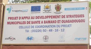 Entrée de la cellule projet PBO à Ouagadougou