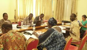 Réunion du Comité Pédagogique avec l'équipe ouagalaise en mai 2012