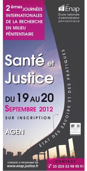 Santé et justice, état des savoirs et des pratiques - 19 et 20 septembre 2012