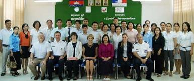 Formation sur la contrefaçon des médicaments au Cambodge