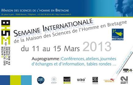 MSHB - Semaine internationale du 11 au 15 mars 2013