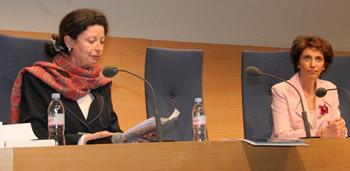 Marie-Aline Bloch, directrice de la DRIP, EHESP et Marisol Touraine, Ministre des affaires sociales et de la santé