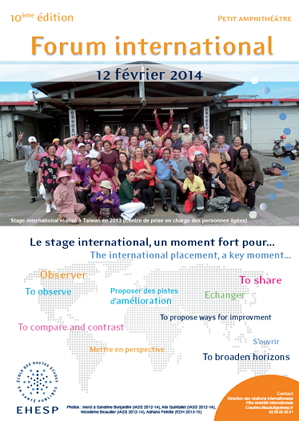 Affiche Forum international 2014