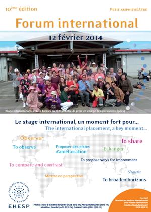 Affiche Forum international 2014