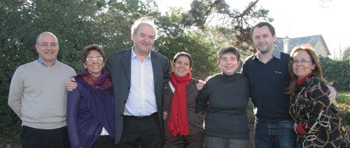 Equipe franco-brésilienne lors d'un séminaire de préparation en France en 2013