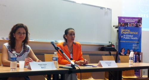 Natalia Godoy, étudiante MPH et Farida Kerouani, OPS