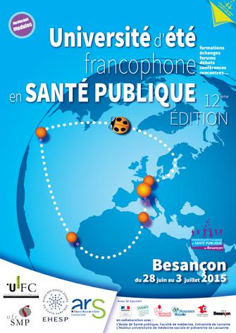 12e Université d'été francophone en santé publique