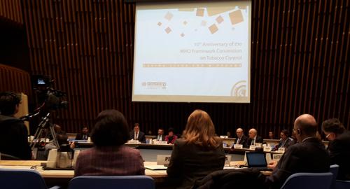 10e anniversaire de l'entrée en vigueur de la Convention-cadre de l'OMS pour la lutte antitabac