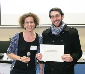 Judith Mueller (directrice adjointe du réseau doctorale) et Guillaume Hébert