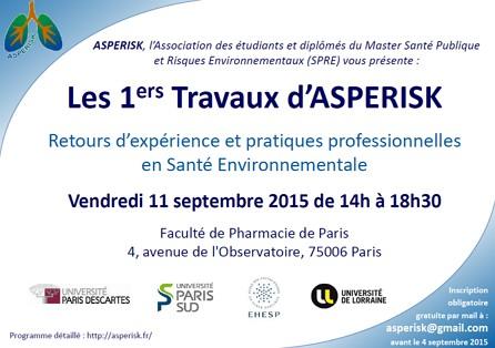 1ers travaux d'ASPERISK en santé environnementale