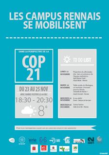 COP 21, les campus rennais se mobilisent…