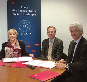 Signature d'une convention de partenariat entre l'EHESP et le CNG