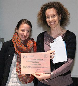 Eve Reynaud, doctorante en 2e année à l'ED 393 (Pierre et Marie Curie)