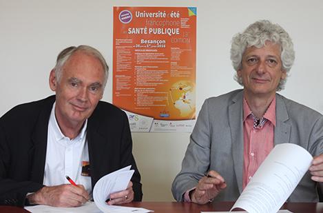 François Baudier, Président de la FNES et Laurent Chambaud, Directeur de l'EHESP