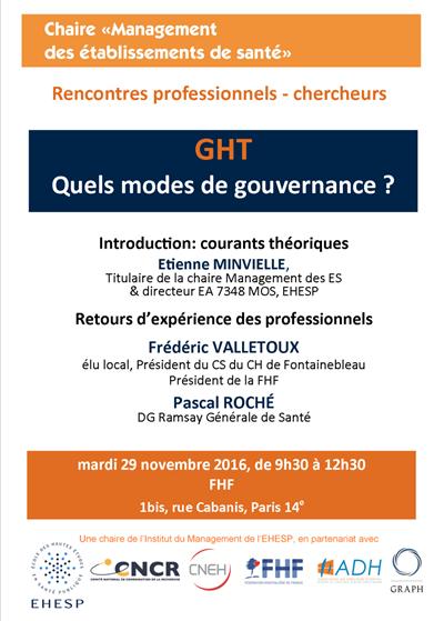 Groupements hospitaliers de territoires (GHT), quels modes de gouvernance ?