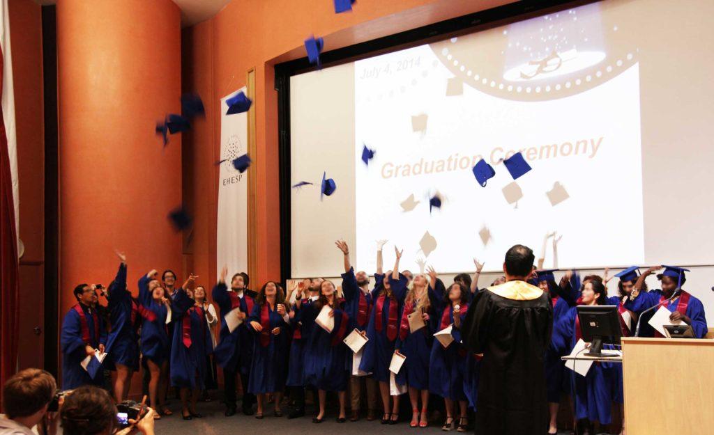 Remise des diplomes des etudiants internationaux