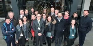 Tuteurs et invités extérieurs avec l'équipe de la DRI au Forum International du 6 février 2018
