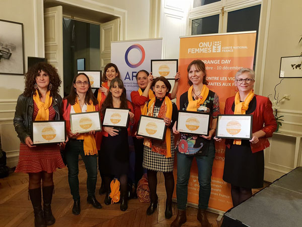 Lauréates du prix Orange Day Champions 2018