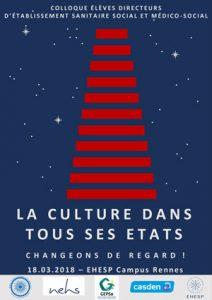 Affiche colloque ED3S La Culture dans tous ses états - 18 mars 2018