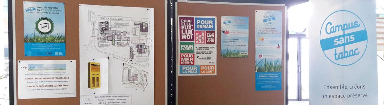Dispositif Campus sans tabac à l'EHESP site de Rennes