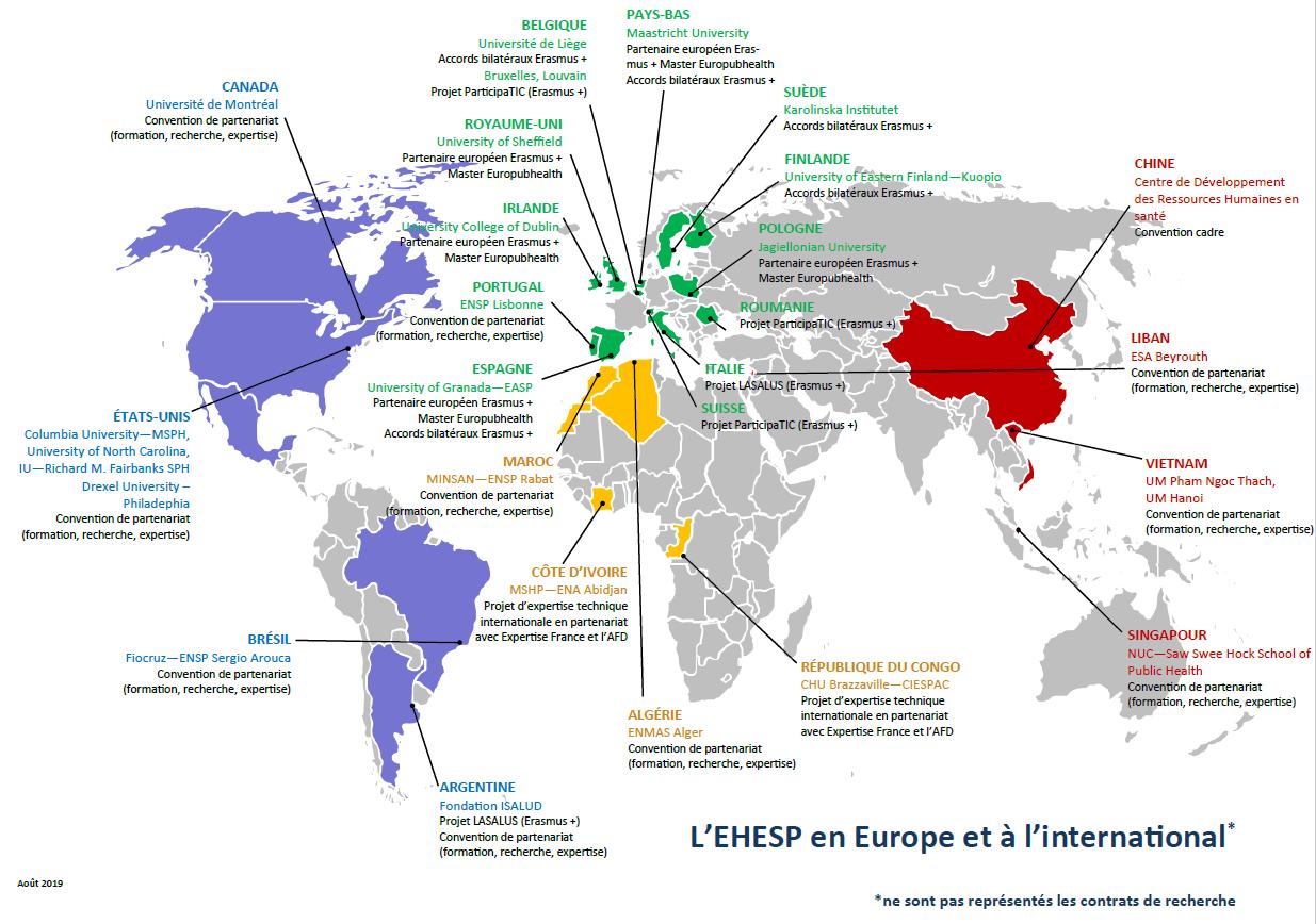 EHESP Partnership map (2019)
