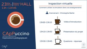 Programme CApPuccino sur l'inspection virtuelle à l'EHESP