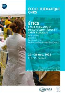 Ecole thématique CNRS- EHESP- Impact en Santé et Changement Climatique - 22 au 26 novembre 2021