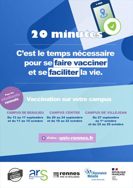 Affiche campagne vaccination covid-19 à Rennes2021